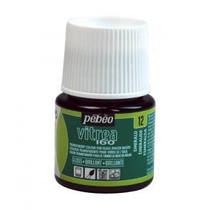 COLORE PER VETRO PEBEO VITREA  160 45 ml 12 EMERALD