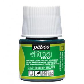 COLORE PER VETRO PEBEO VITREA  160 45 ml 13 ORIENTAL GREEN