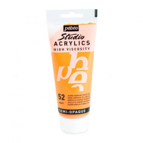 PEBEO STUDIO ACRYLICS 100 ml  52 DARK CADMIUM YELLOW HUE
