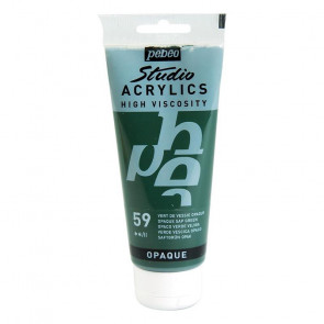 PEBEO STUDIO ACRYLICS 100 ml  59 OPAQUE SAP GREEN