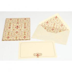 PLICO 10 BIGLIETTI/BUSTE KARTOS 11,2x16,8 cm - GIGLIO