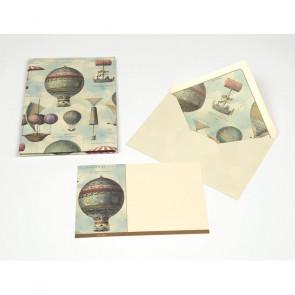 PLICO 10 BIGLIETTI/BUSTE KARTOS 14X20 cm - AIR BALLOONS