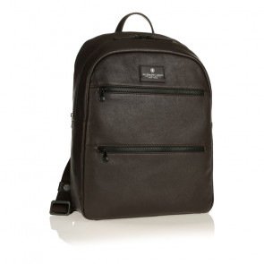 ZAINO SPALDING SQUARE LARGE BACKPACK STONE LINE BROWN