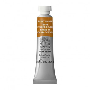 ACQUERELLO WINSOR & NEWTON S1  BURNT UMBER TUBO 5ml