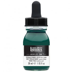 LIQUITEX ACRYLIC INK 30 ml    317 PHTHALOCYAN. GREEN BLUE SH