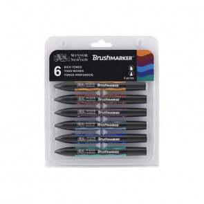 PROMARKER BRUSH WINSOR & NEWTON SET 6 COLORI RICH TONES