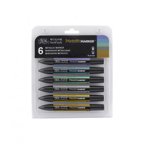 METALLICMARKER WINSOR &NEWTON SET 6 COLORI METALLICI