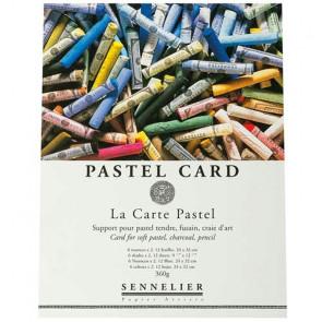 BLOCCO PASTEL CARD SENNELLIER 12 FOGLI 24X32 360g 6 COLORI