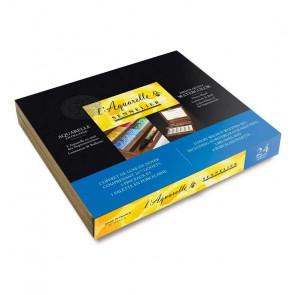 ACQUERELLI SENNELIER 12 ½ GODET + TAVOLOZZA BOX IN LEGNO