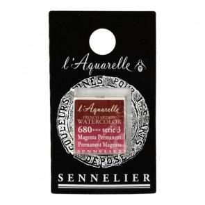 ACQUERELLO SENNELIER ½ GOD 680 S3 PERMANENT MAGENTA