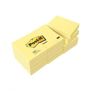 12 BLOCCHI 100 FOGLI RIPOSIZIOABILI POST-IT 38X51 mm GIALLO
