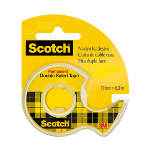 NASTRO BIADESIVO SCOTCH 3M CON DISPENSER 12mm X 6,3m