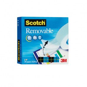 SCOTCH MAGIC 811 19x33 OPACO  REMOVIBILE