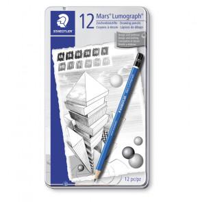 SET 12 MATITE MARS LUMOGRAPH 6B-5B-4B-3B-2B-B-HB-F-H-2H-3/4H