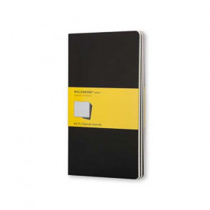 MOLESKINE 3 LARGE SQUARED JOURNALS BLACK 13X21 cm