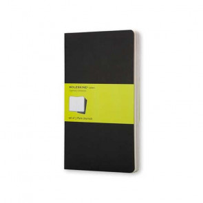 MOLESKINE 3 LARGE PLAIN JOURNALS BLACK 13X21 cm