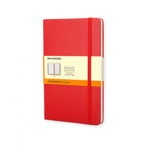 MOLESKINE LARGE RULED NOTEBOOK RED HARD COVER 13X21 cm