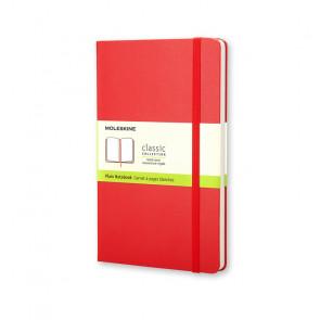 MOLESKINE LARGE PLAIN NOTEBOOK RED HARD COVER 13X21 cm