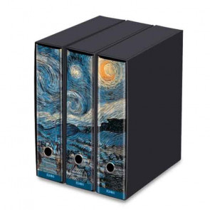 SET 3 RACCOGLITORI DORSO 8 cm STARRY NIGHT - VAN GOGH