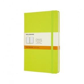 MOLESKINE LARGE RULED NOTEBOOK LEMON GREEN HARD COVER 13X21 cm
