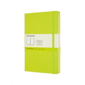 MOLESKINE LARGE PLAIN NOTEBOOK LEMON GREEN HARD COVER 13X21 cm
