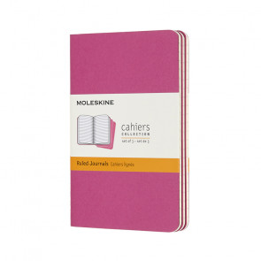 MOLESKINE 3 POCKET RULED JOURNALS KINETIC PINK 9X14 cm