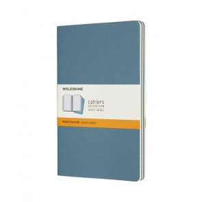 MOLESKINE 3 LARGE RULED JOURNALS BRISK BLUE 13X21 cm