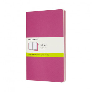 MOLESKINE 3 LARGE RULED JOURNALS KINETIC PINK 13X21 cm