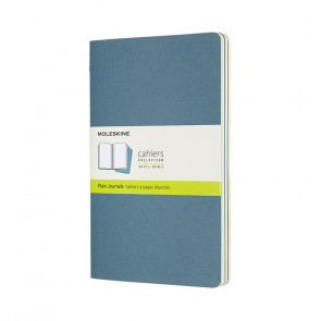 MOLESKINE 3 LARGE PLAIN JOURNALS BRISK BLUE 13X21 cm