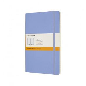 MOLESKINE LARGE RULED NOTEBOOK HYDRANGEA BLUE HARD COVER 13X21cm