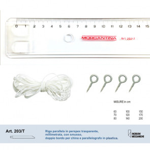 RIGA PARALLELA PLASTICA 70 cm  PARALLELOGRAFO IN PLASTICA