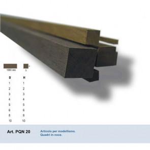 QUADRO IN NOCE 2x2x1000 mm