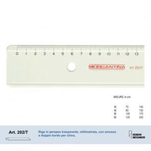 RIGA MORGANTINA 202/T IN PERSPEX TRASPARENTE 120 cm