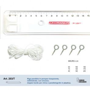 RIGA PARALLELA PLASTICA 120 CM PARALLELOGRAFO IN PLASTICA