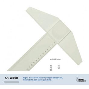 RIGA A T FISSA MORGANTINA 220/MT PERSPEX TRASPARENTE 80 cm