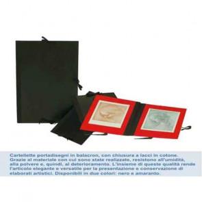 CARTELLA PORTADISEGNI 25X35 cm CON LACCI RIV. BALACRON NERO