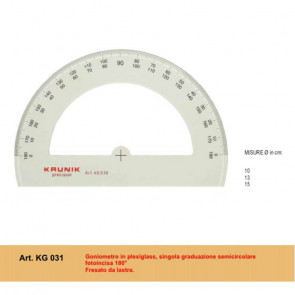 GONIOMETRO MORGANTINA KRUNIK  KG 031 180° 10 cm