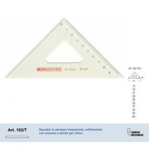 SQUADRA 37/45° MORGANTINA 102/T PERSPEX TRASPARENTE