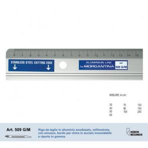 RIGA MORGANTINA 509/GM ALLUMINIO PROFILO IN ACCIAIO 150 cm