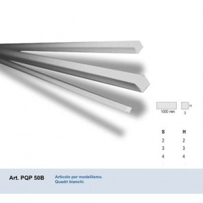 QUADRO IN PVC BIANCO 2x2x1000 mm