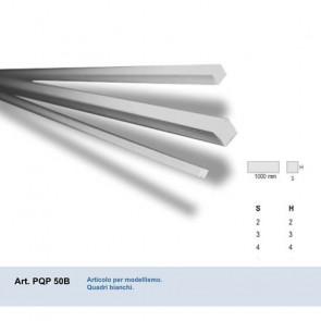 QUADRO IN PVC BIANCO 4x4x1000 mm