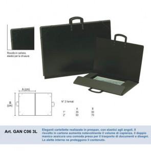 CARTELLA PORTADISEGNI 35X50 cm CARTONE PRESPAN CON MANICO