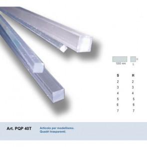 QUADRO IN PVC TRASPARENTE 5x5x1000 mm