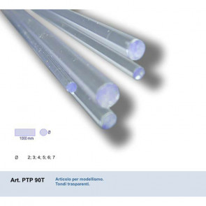 TONDO IN PVC TRASPARENTE 4x4x1000 mm