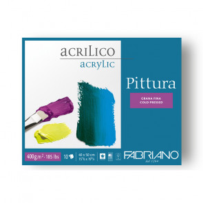 BLOCCO FABRIANO PITTURA 40X50 10 FOGLI 400 g/m²