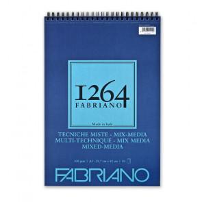 BLOCCO TECNICHE MISTE FABRIANO 1264 A3 SPIR. LC 30 FF 300 g/m²