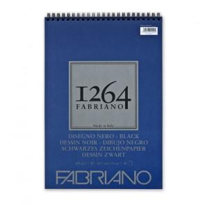 BLOCCO DISEGNO FABRIANO 1264 A3 SPIR. LC 40 FF NERI 200 g/m²