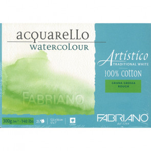 BLOCCO TRADIZIONAL WHITE 12X18 20 FG. 300 g/m² GRANA GROSSA