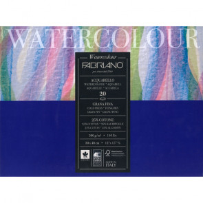 BLOCCO WATERCOLOUR 30X40 20 FOGLI 300 g/m² GRANA FINE