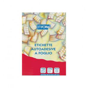 ETICHETTE A4 UNI 210X144      CON MARGINE DI SICUREZZA